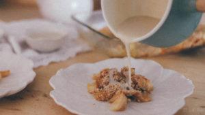 Быстрый пирог яблочный крамбл
